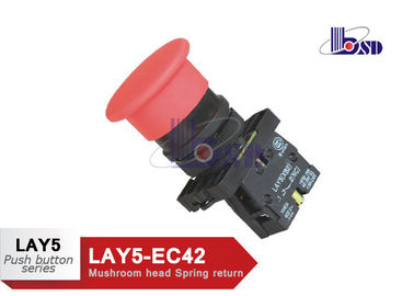 Professional Red Mushroom Head Push Button Switch LAY5(XB2)-EC42