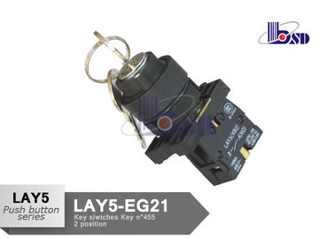 Metal Selector Switch 2 Position Momentary Key Switch LAY5(XB2)EG21