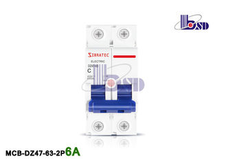 6Amp Double Pole Circuit Breaker / Plastic Small C Curve Circuit Breaker