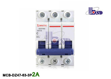 Commercial 2 Amp Circuit Breaker 3 Pole Mcb Circuit Breaker  Protection For Sub - Main Circuits